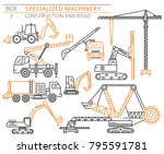 special industrial construction ... | Shutterstock .eps vector #795591781