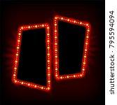 retro showtime 1950s frame... | Shutterstock .eps vector #795594094