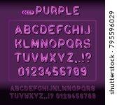 modern display alphabet and... | Shutterstock .eps vector #795596029