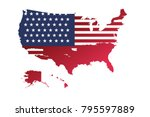 superhigh detail of us map... | Shutterstock .eps vector #795597889