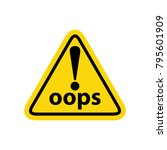 hazard warning sign with... | Shutterstock .eps vector #795601909