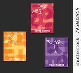 winter sport banners  eps10   | Shutterstock .eps vector #795602959