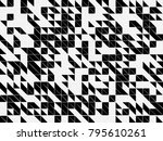 abstract black and white... | Shutterstock .eps vector #795610261