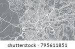 urban vector city map of