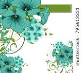 abstract vector flower... | Shutterstock .eps vector #795613321