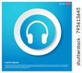 headphone icon abstract blue... | Shutterstock .eps vector #795613645