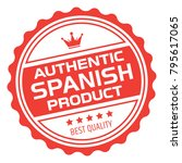 spanish product stamp | Shutterstock .eps vector #795617065