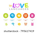 5 love language | Shutterstock .eps vector #795617419