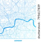 vector city map of london with... | Shutterstock .eps vector #795617839