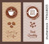 vector coffee shop or brand...   Shutterstock .eps vector #795618055