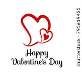 happy valentine's day vector... | Shutterstock .eps vector #795619435