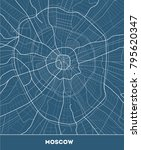 vector city map of moscow with... | Shutterstock .eps vector #795620347