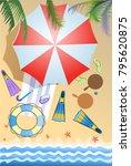 summer sunny day  | Shutterstock . vector #795620875