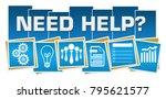 need help text written over... | Shutterstock . vector #795621577