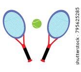 tennis rackets and tennis ball | Shutterstock .eps vector #795625285