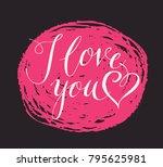 vector handwritten calligraphic ...   Shutterstock .eps vector #795625981