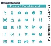 events and entertainment blue...