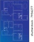 blueprint vector plan of home | Shutterstock .eps vector #7956277