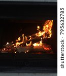 burning fireplace. fire in the... | Shutterstock . vector #795632785