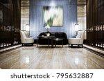 Stock photo luxury lobby interior 795632887