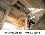 young professional engineer... | Shutterstock . vector #795634045