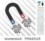 horseshoe magnet iota... | Shutterstock .eps vector #795635125