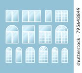 set of various isolated white...   Shutterstock .eps vector #795643849