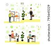 illustration of website... | Shutterstock . vector #795645229