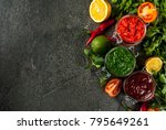 indian traditional food  set of ... | Shutterstock . vector #795649261