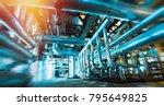 blurred machine interior  lot... | Shutterstock . vector #795649825