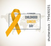 international childhood cancer... | Shutterstock .eps vector #795650251