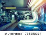 equipment  cables and piping as ... | Shutterstock . vector #795650314
