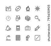 school accessories icon set.... | Shutterstock .eps vector #795650905