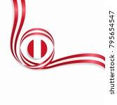 peruvian flag wavy abstract... | Shutterstock .eps vector #795654547