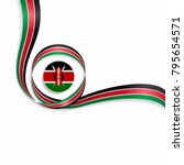 kenyan flag wavy abstract... | Shutterstock .eps vector #795654571