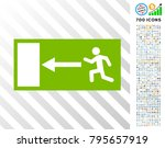 emergency exit icon with 700... | Shutterstock .eps vector #795657919