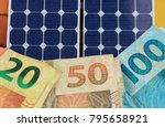 solar panel with varied values...   Shutterstock . vector #795658921