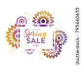 color flyer for spring sale... | Shutterstock .eps vector #795660655