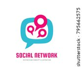 social media network   vector... | Shutterstock .eps vector #795662575