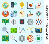 icons set about marketing. with ... | Shutterstock .eps vector #795665341