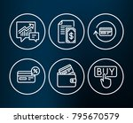 set of payment  cashback and... | Shutterstock .eps vector #795670579