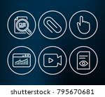 set of check article  website... | Shutterstock .eps vector #795670681