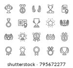 Awards Line Icons. Set Of...