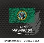 flag of washington  vector... | Shutterstock .eps vector #795676165