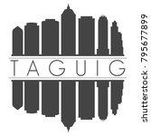 taguig philippines asia skyline ... | Shutterstock .eps vector #795677899