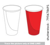 paper cup to be traced only of... | Shutterstock .eps vector #795678691
