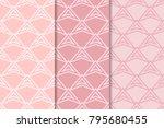geometric backgrounds. pale... | Shutterstock .eps vector #795680455