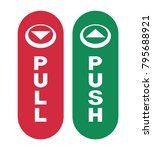 arrows to push or pull. vector...   Shutterstock .eps vector #795688921
