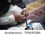 otavalo  ecuador   december 30  ... | Shutterstock . vector #795695389