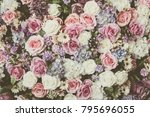 flower backgrounds   vintage... | Shutterstock . vector #795696055